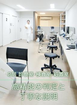 2階 診察室・検査室・処置室|高精度の判定と丁寧な説明